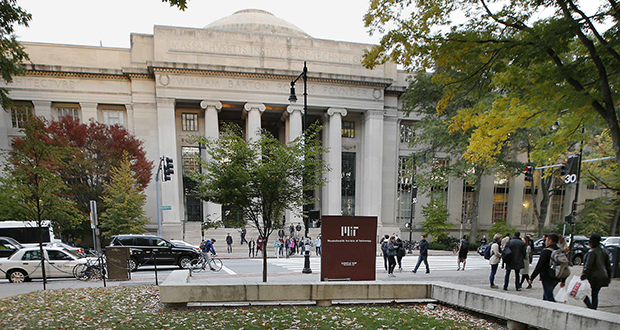 Students walk on the Massachusetts Institute of Technology campus in Cambridge, Massachusetts. The state's Supreme Judicial Court heard arguments Tuesday in a lawsuit filed against MIT by the family of graduate student Han Nguyen, who killed himself in 2009. (AP file photo)