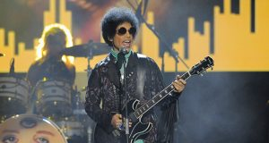 Prince performs at the Billboard Music Awards in 2013 at the MGM Grand Garden Arena in Las Vegas. (AP file photo)