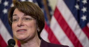 Sen. Amy Klobuchar is the sole public officeholder receiving majority approval in the latest SurveyUSA poll of Minnesotans. She received 56 percent approval in the survey. (AP photo)