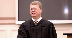 Sauk County Circuit Judge Michael Screnock, shown in 2016, was arrested and ticketed for trespassing and obstructing officers twice in 1989 while he was participating in the protests at a Madison abortion clinic. (AP file photo)