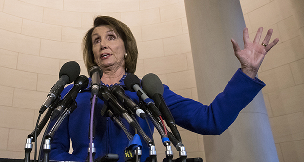 House Minority Leader Nancy Pelosi, D-California, speaks to reporters on Capitol Hill in Washington. Pelosi is slamming a Republican bill that would make it easier for gun owners to legally carry concealed weapons across state lines. (AP file photo)
