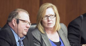 Michelle Fischbach, R-Paynesville (right), is being sued for refusing to relinquish her Senate seat as she succeeds Tina Smith as lieutenant governor. (File photo: Kevin Featherly)