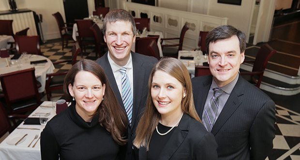 Left to right: Rachel Clark Hughey, Joseph Dubis, Emily M. Wessels and Christopher Davis.