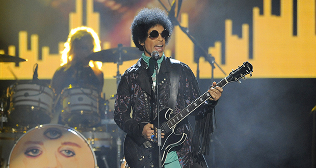 Prince performs at the Billboard Music Awards in 2013 at the MGM Grand Garden Arena in Las Vegas. The musician died on April 21, 2016. (AP file photo)