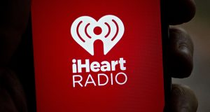 The iHeartMedia application is displayed for a photograph on an Apple iPhone. (Bloomberg photo)
