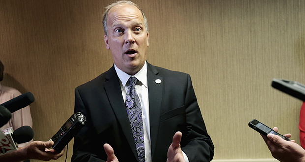 Wisconsin Attorney General Brad Schimel, shown in a 2016 file photo, announced Thursday that he is seeking a second term. (AP file photo)