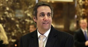 Michael Cohen, an attorney for Donald Trump, arrives in Trump Tower in New York on Dec. 16, 2016. (AP file photo)