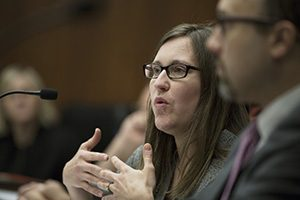 Rep. Jamie Becker-Finn, DFL-Roseville, has convened groups and formed an informal task force to examine sexual harassment issues. That group includes employment attorneys, human resources professionals and workplace advocates and will offer recommendations for change. (Staff photo: Kevin Featherly)