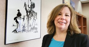 Judge Lisa Janzen, shown in her office at the Hennepin County Government Center, previously was an assistant public defender in the 7th and 1st districts and managing attorney in the 1st District Public Defender's Office. (Staff photo: Bill Klotz)