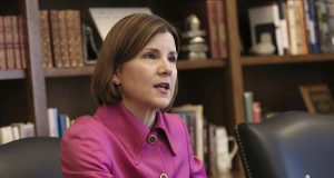 Minnesota Attorney General Lori Swanson says census directors appointed by presidents from both parties have not included a citizenship question since 1950 out of concern that it would result in an inaccurate count. (AP photo: Jim Mone)