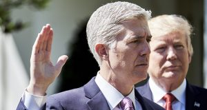 Justice Neil Gorsuch, appointed by President Donald Trump, has been less of a bomb-thrower and more of an inside player in the court's current term. (Bloomberg file photo)