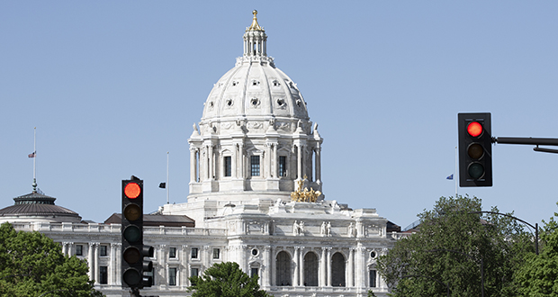 Who's at fault for the Capitol gridlock? Gov. Dayton? GOP legislative leaders? Or the accelerating decay of democracy itself? (Staff photo: Kevin Featherly)