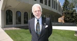Ron Meshbesher in 2007 at the Park Avenue office building that houses his devoted team. (File photo)