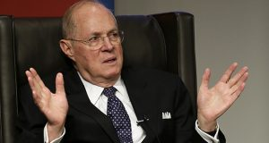 Supreme Court Justice Anthony Kennedy speaks in 2013 to faculty members at the University of Pennsylvania law school in Philadelphia. (AP file photo)