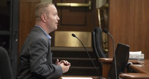 On Monday, Rep. Nick Zerwas, R-Elk River, encouraged members of the Legislative Commission on Data Practices to adopt his changes to the Minnesota Health Records Act, bringing them more into federal conformity. (Staff photo: Kevin Featherly)
