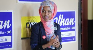 """A complaint filed with the Minnesota Campaign Finance Board by Rep. Steve Drazkowski, R-Mazeppa, alleges that Minneapolis DFL Rep. Ilhan Omar, pictured, used legislative campaign money """"to pay legal fees to her divorce attorney"""" in 2016. The attorney says the allegation is false and that the payment in question was reimbursement for campaign-related services. (File photo)"""
