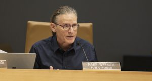 Retired Judge Mark S. Wernick, a Sentencing Guidelines Commission public member, speaks during a commission hearing on July 26, during which the panel adopted several modifications to sentencing guidelines. (Staff photo: Kevin Featherly)