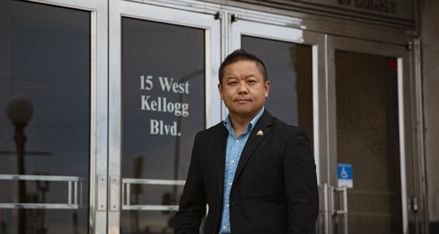Translating the ballot for an elderly Hmong neighbor landed St. Paul City Council member Dai Thao in court because candidates aren't supposed to assist voters at polling places. He was acquitted after a bench trial. (Staff photo: Kevin Featherly)