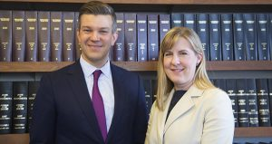 Incoming House Majority Leader Ryan Winkler, left, and Speaker-designate Melissa Hortman posed in her office Nov. 13. The 2019 session will mark the first time lawyers have held both key House leadership posts since 1987. (Staff photo: Kevin Featherly)