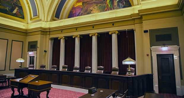 The Minnesota Supreme Court chamber in the Capitol in St. Paul. (File photo: Kevin Featherly)