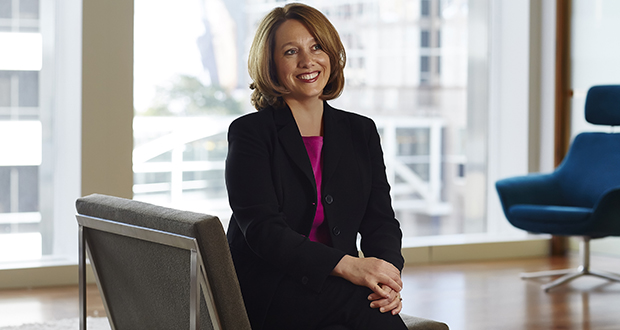 """Heidi Neff Christianson, shareholder at Nilan Johnson Lewis, says, """"It's a strategic advantage for firms that have a good balance in both shareholdership and in firm leadership among genders."""" (Submitted photo)"""