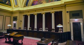 The Supreme Court Chamber in the Minnesota Capitol in St. Paul. (Staff photo: Kevin Featherly)