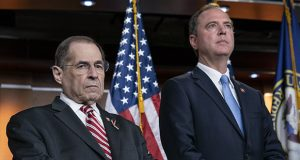 House Judiciary Committee Chairman Jerrold Nadler, D-N.Y., left, and House Intelligence Committee Chairman Adam B. Schiff, D-Calif., shown in a June 11 photo, said Tuesday that Special Counsel Robert Mueller would appear in an open session July 17. (AP photo)