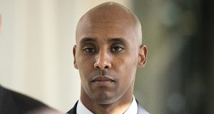Former Minneapolis police officer Mohamed Noor walks to court April 26 in Minneapolis. Attorneys for Noor, convicted of fatally shooting an unarmed woman in 2017, asked the sentencing judge for no prison time, but he received a sentence of 12½ years. (AP file photo: Star Tribune)