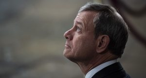 Together, the last rulings of the court's nine-month term underscored Chief Justice John Roberts' singular role: a conservative who is also the court's pivotal vote and staunchest protector of what he sees as its institutional reputation. (Bloomberg photo)