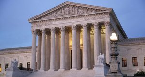 The U.S. Supreme Court building at dusk on Capitol Hill in Washington. (AP photo)