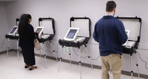 Voters cast paperless ballots in Georgia's runoff election Dec. 4, 2018, at the Lake Park Community Center in Athens, Georgia. (AP file photo)
