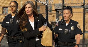 Former Pennsylvania Attorney General Kathleen Kane leaves the Montgomery County Correctional Facility in Eagleville, Pennsylvania, on Wednesday. (AP photo: The Times-Tribune)