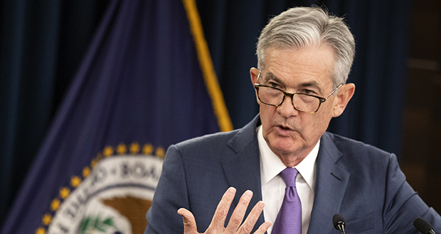 Federal Reserve Chairman Jerome Powell speaks during a news conference following a two-day Federal Open Market Committee meeting in Washington, Wednesday, July 31, 2019. (AP Photo/Manuel Balce Ceneta)