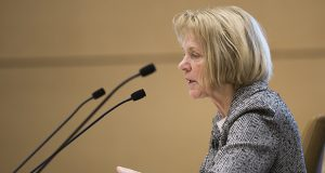 File photo: Sen. Mary Kiffmeyer, R-Big Lake, has told Attorney General Keith Ellison in a letter that she is thinking about pushing legislation to bar the hiring of outside attorneys paid for by special interests.