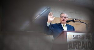 Two years ago a federal judge convicted Joe Arpaio of criminal contempt of court for violating orders to stop the illegal detentions. (Bloomberg file photo)