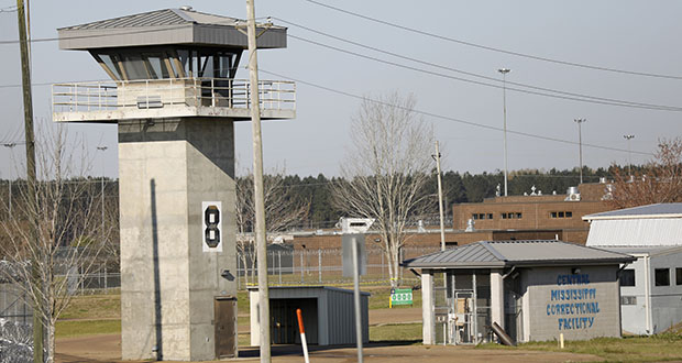 A watch tower stands high on the grounds of the Central Mississippi Correctional Facility in Pearl. (AP file photo)