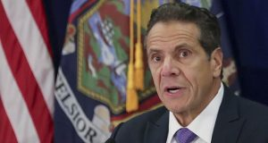 In this Oct. 17, 2019, file photo, New York Gov. Andrew Cuomo speaks during a regional summit of governors in New York. (AP Photo/Bebeto Matthews, File)