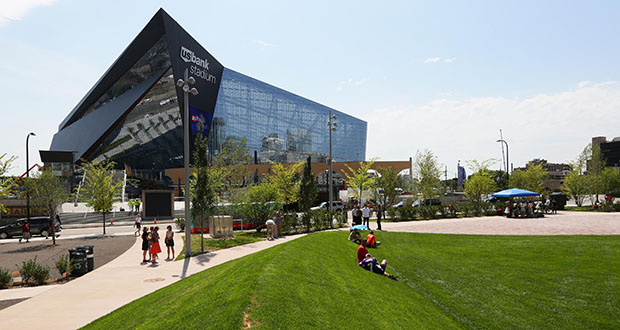 The parcel in question is a two-block area just west of U.S. Bank Stadium known as The Commons. (File photo: Bill Klotz)