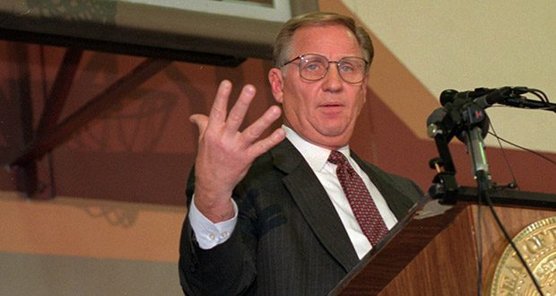 In 1990, Arne Carlson lost the gubernatorial nomination of the Independent Republican Party to Jon Grunseth. Grunseth withdrew from the race, with about a week left because of multiple sex scandals. Carlson and his designated lieutenant governor, Joann Drystad, were placed on the ballot by the GOP with barely a week left in the campaign. (AP file photo)