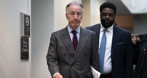 House Ways and Means Committee Chairman Richard Neal, D-Mass., heads to meet with fellow Democrats Wednesday at the Capitol in Washington. His committee has brought a lawsuit to compel the Treasury Department to release President Donald Trump's federal tax returns. (AP photo)