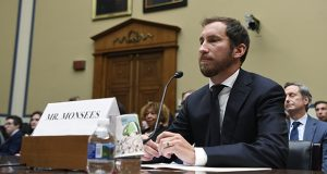 Juul Labs co-founder and Chief Product Officer James Monsees testifies in July during a hearing on the youth nicotine epidemic before a House Oversight and Government Reform subcommittee in Washington. (AP file photo)