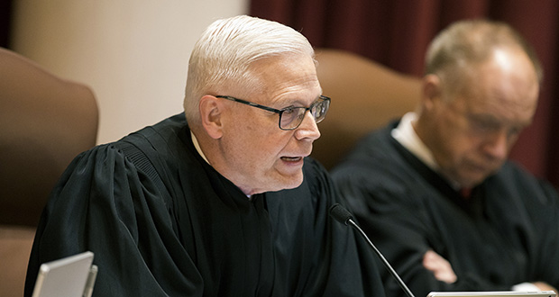 Justice David Lillehaug is shown during a 2017 Supreme Court session. (AP file photo: Star Tribune)
