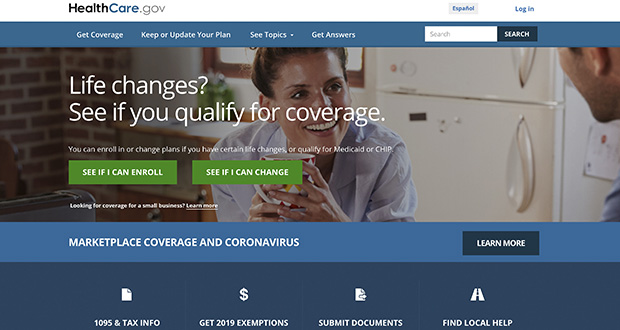 This file image provided by U.S. Centers for Medicare & Medicaid Service shows the website for HealthCare.gov. (U.S. Centers for Medicare & Medicaid Service via AP)