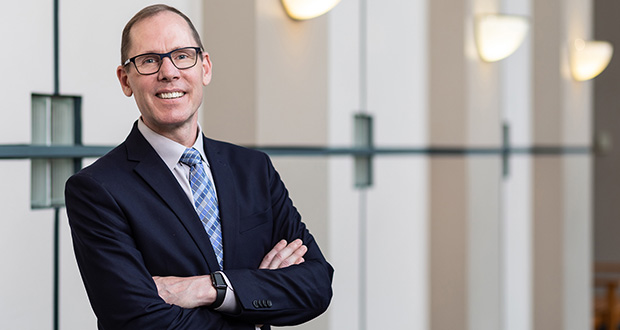 Dean Anthony Niedwiecki announced the decision in a July 24 letter to the law school's faculty and staff. (Photo: Rebecca Slater for Mitchell Hamline School of Law)