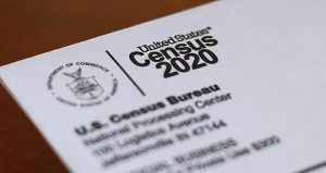 This April 5 photo shows and envelope containing a 2020 census letter that was mailed to a Detroit resident. (AP file photo)