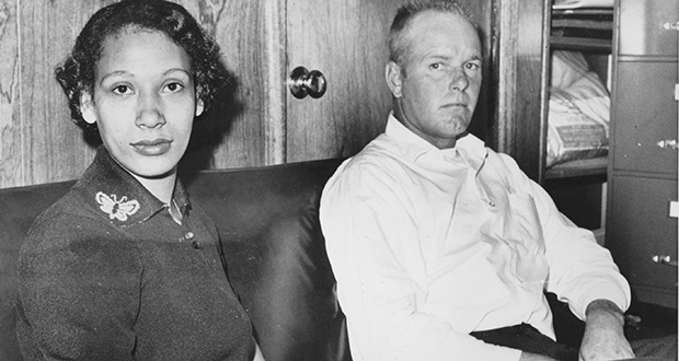 This Jan. 26, 1965, photo shows Mildred Loving and her husband, Richard P. Loving. Acting as the Lovings' attorney, Bernard S. Cohen successfully challenged a Virginia law banning interracial marriage. (AP file photo)