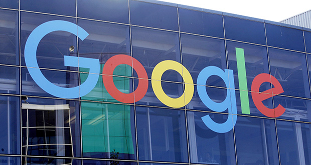 This 2019 photo shows a sign at Google's campus in Mountain View, California. (AP file photo)