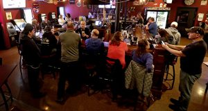 The Dairyland Brew Pub opens to patrons May 13 in Appleton, Wisconsin. A Wisconsin judge on Monday reimposed an order from Gov. Tony Evers' administration limiting the number of people who can gather in bars, restaurants and other indoor venues to 25% of capacity. (AP file photo: The Post-Crescent)
