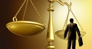 Scales of justice, gavel, law