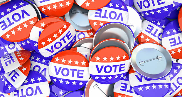 Vote, voting buttons, poll, campaign